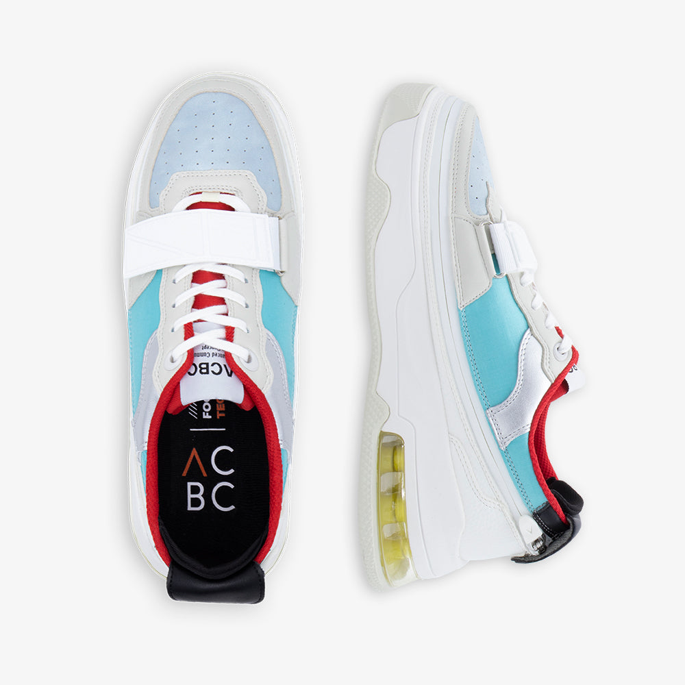 ACBC Sonica White + Ultra BABY BLUE&RED With STRAP RED