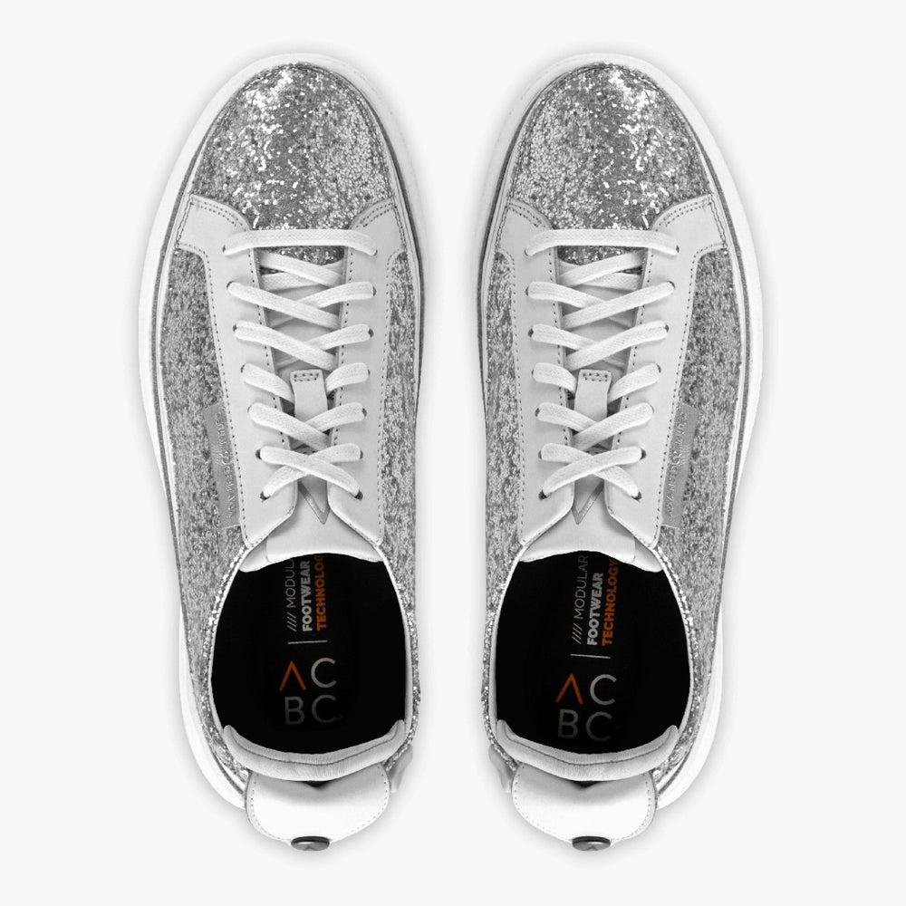 Urban Bianca + Sneaker Glitter Argento