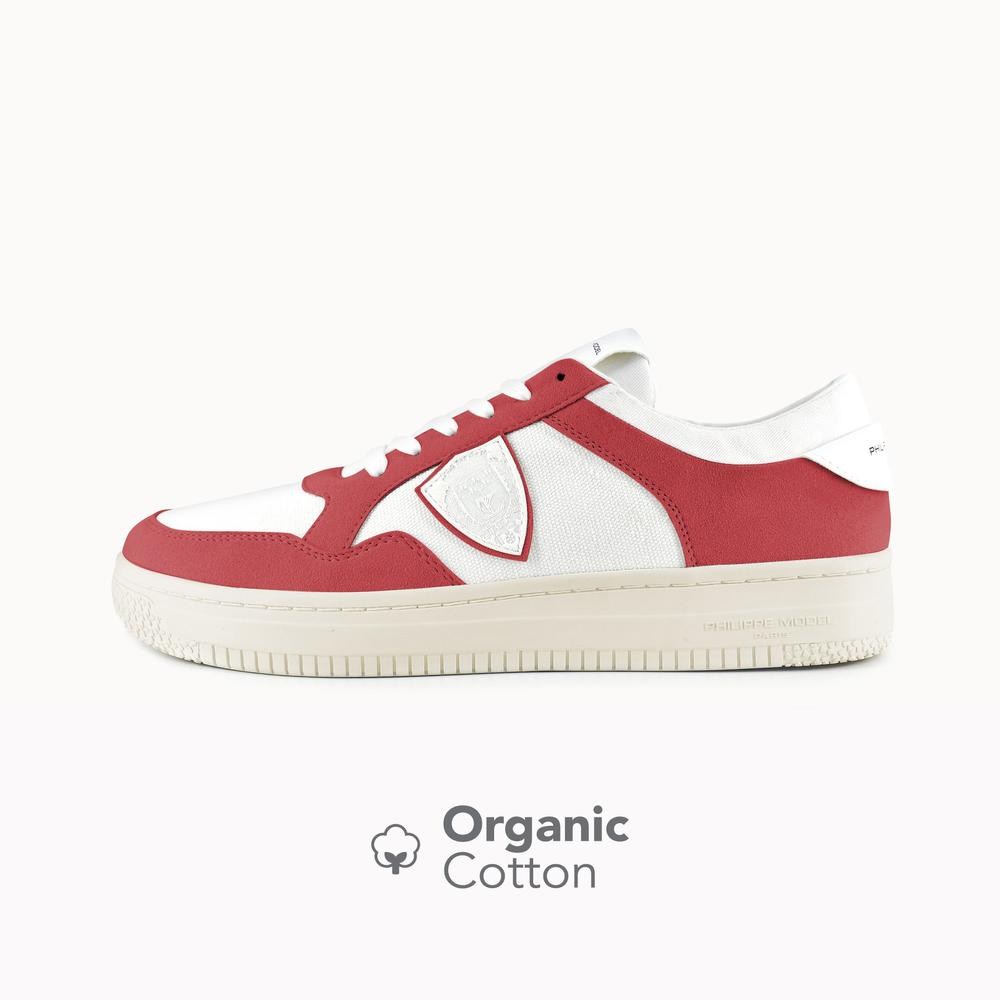 Philippe Model Lyon White&Red Organic Cotton