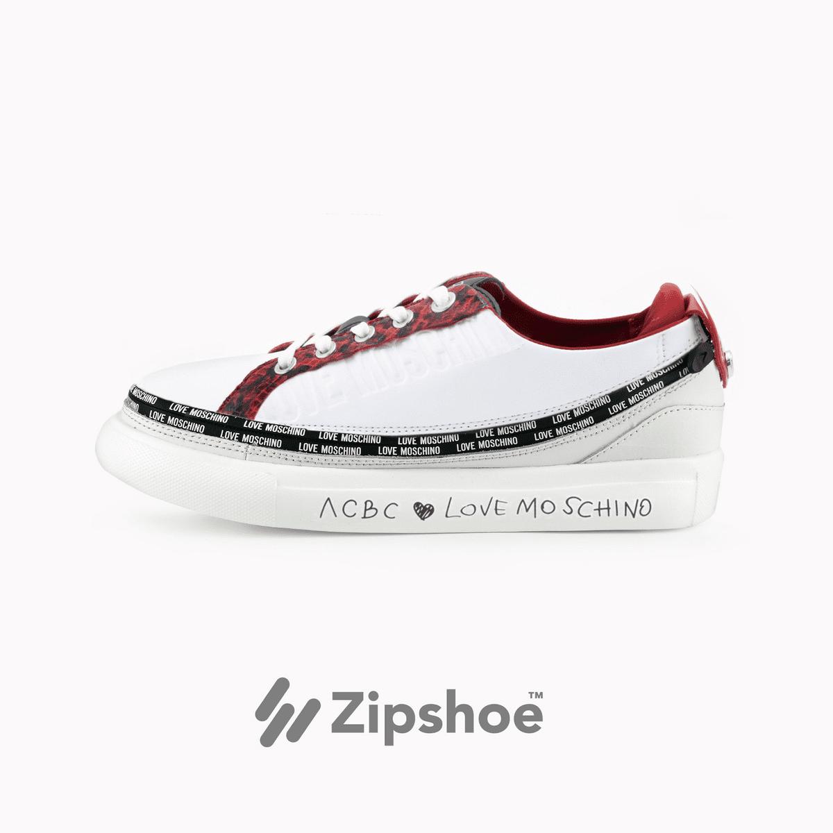 LoveMoschino Sneaker White&Red