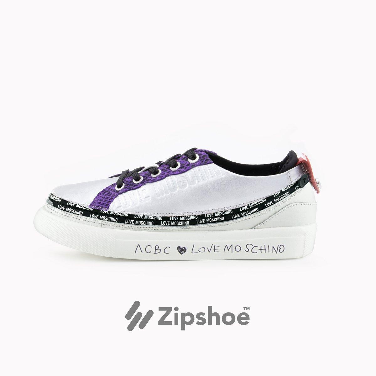 LoveMoschino Sneaker Silver&Violet