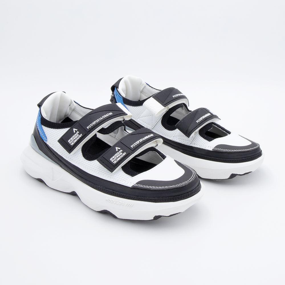 Suola Modulo 4 White Black + Skin Sandal White Blue