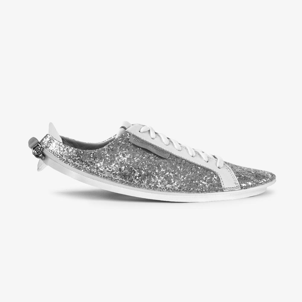 Skin Sneaker Silver Glitter