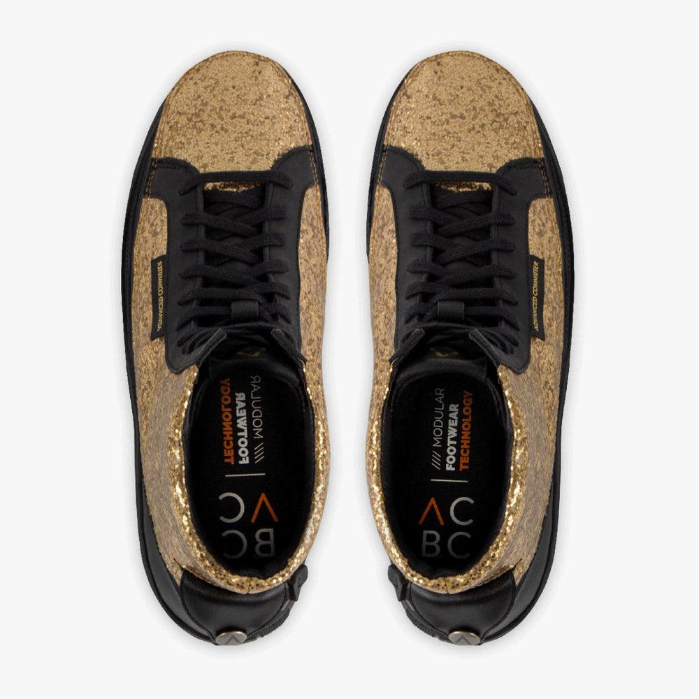 Urban Nera + Sneaker High Glitter Oro