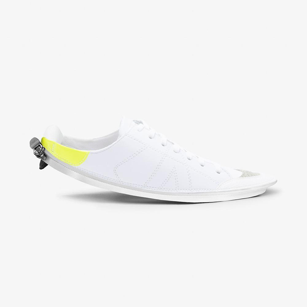Skin Tennis Court White & Acid Yellow