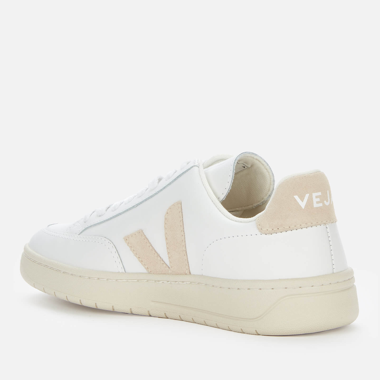 Veja Women's V-12 Leather Trainers - Extra White/Sable