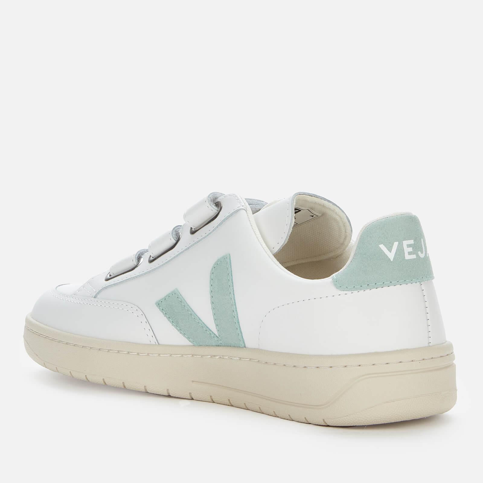 Veja Women's V-Lock Leather Trainers - Extra White/Matcha