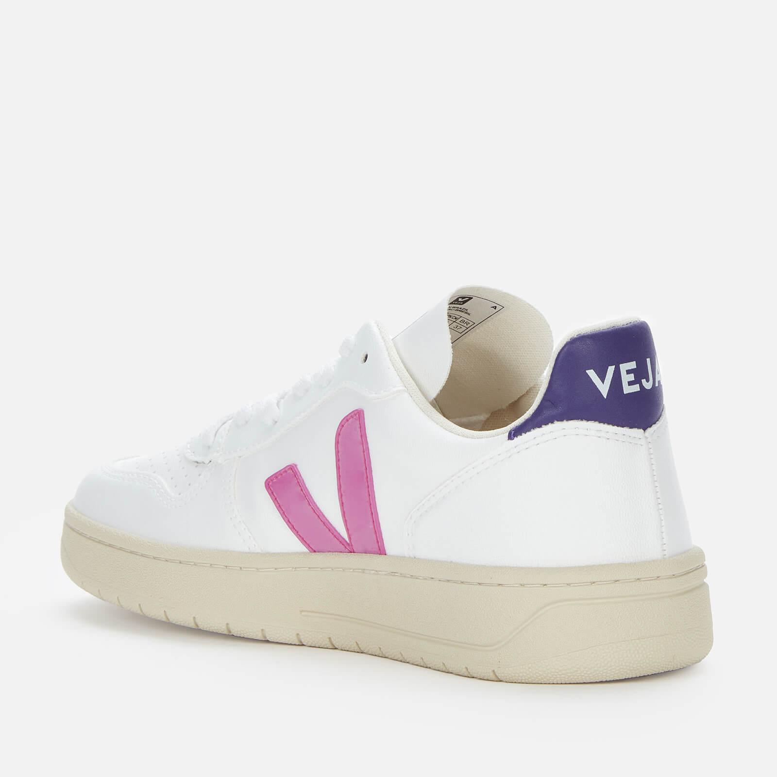 Veja Women's V10 Vegan Trainers - White/Ultraviolet Purple