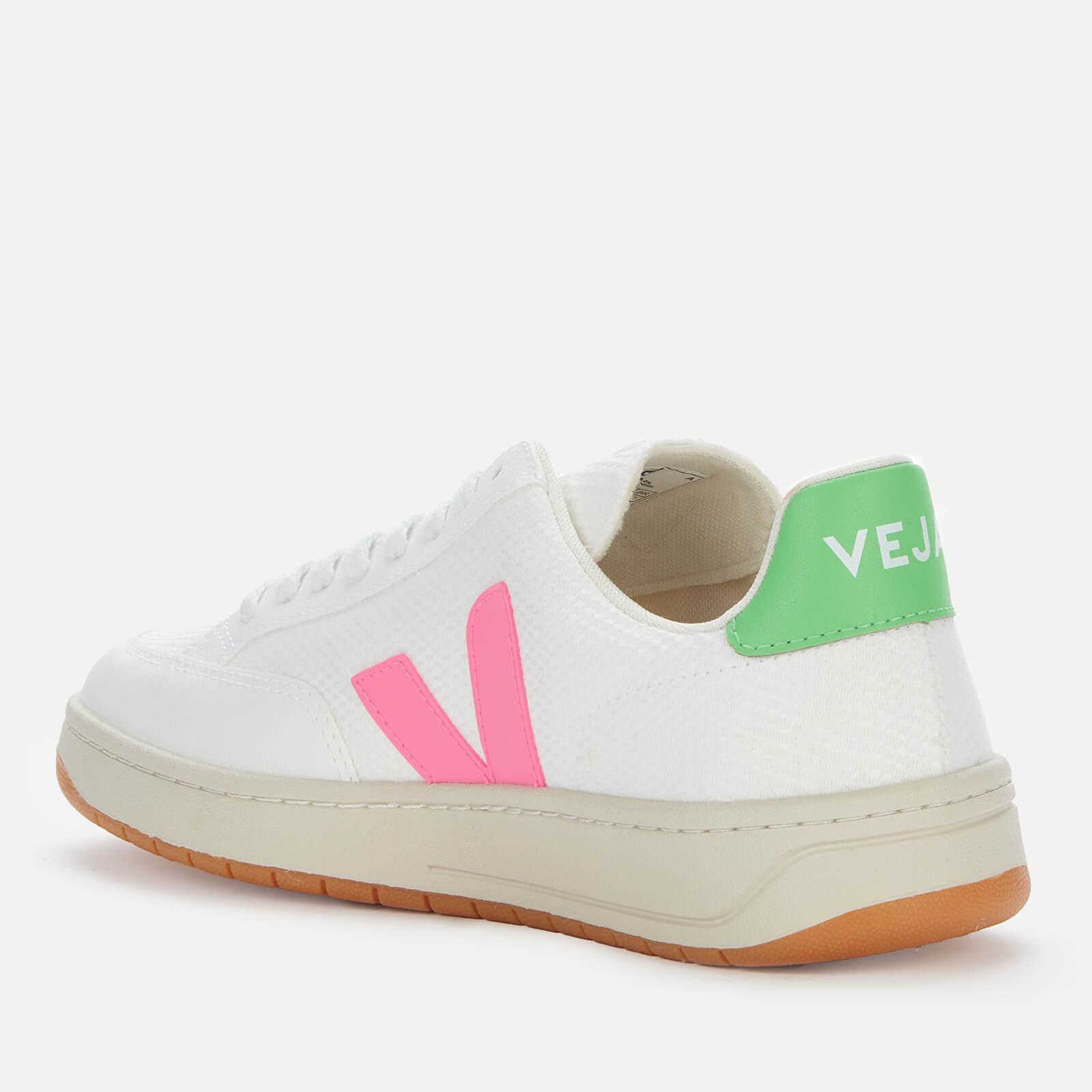 Veja Women's V-12 B-Mesh Trainers - White/Sari/Absinthe