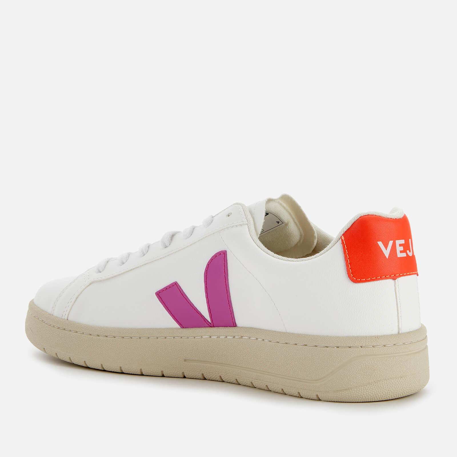 Veja Women's Urca Vegan Trainers - White/Ultraviolet/Orange Fluo