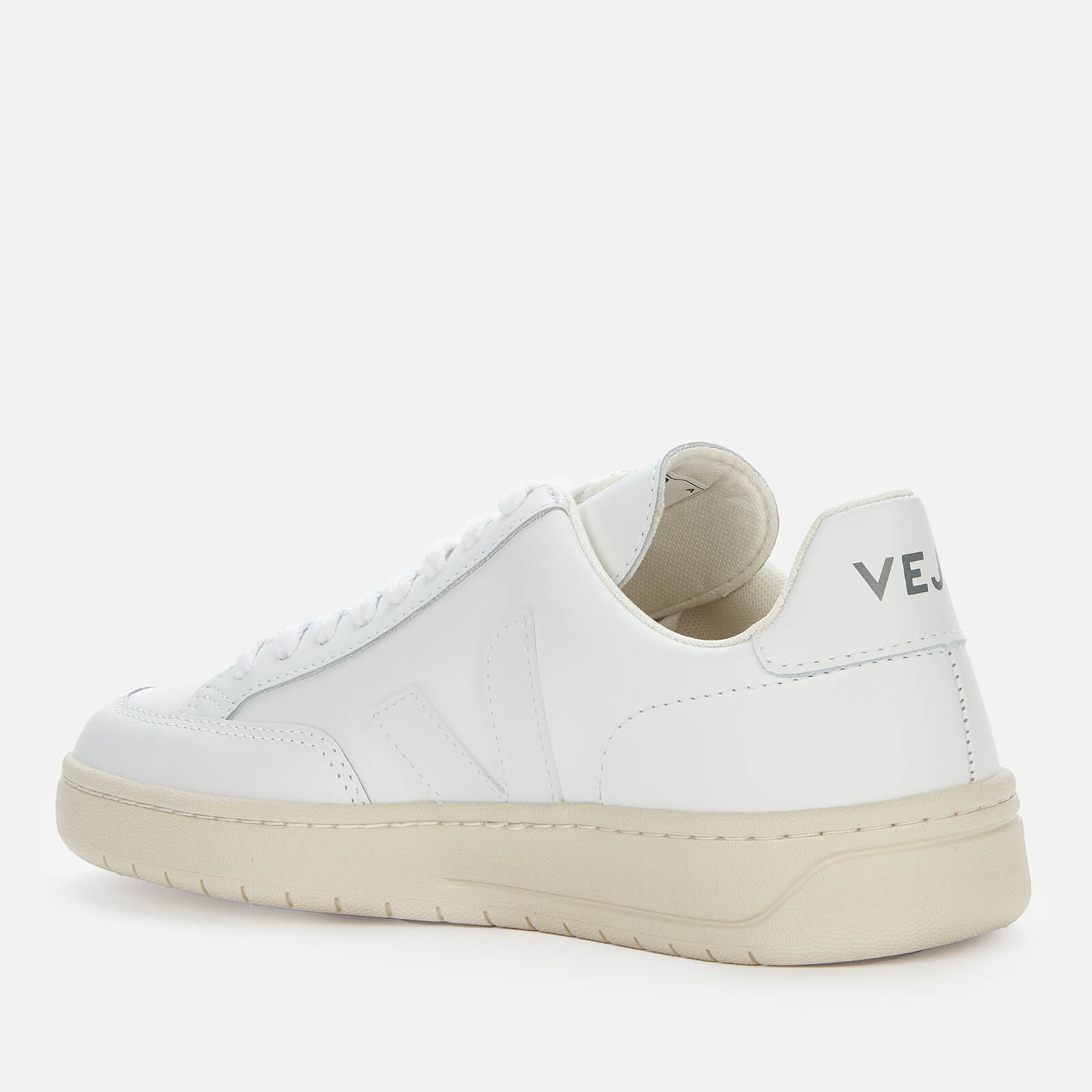 Veja Women's V-12 Leather Trainers - Extra White