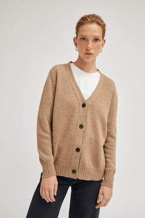 Artknit Studios The Upcycled Cashmere Cardigan - Camel