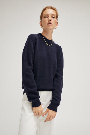 Artknit Studios The Upcycled Cashmere Sweater - Blue Navy