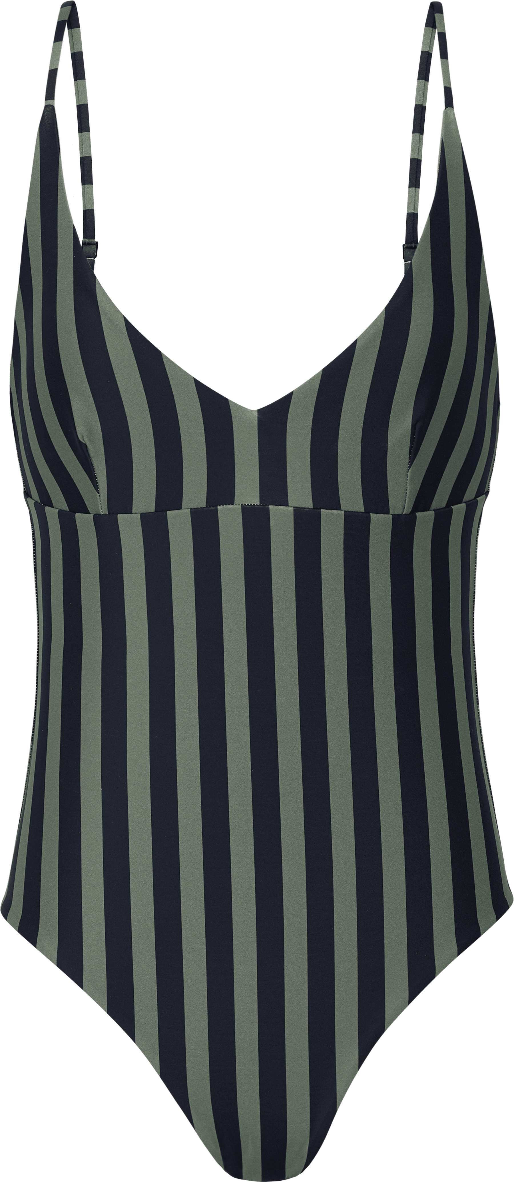 V-neck bathing suit