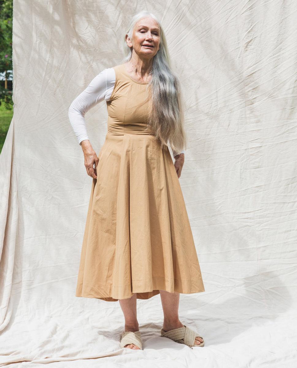 Beaumont Organic Remi Organic Cotton Dress In Camel