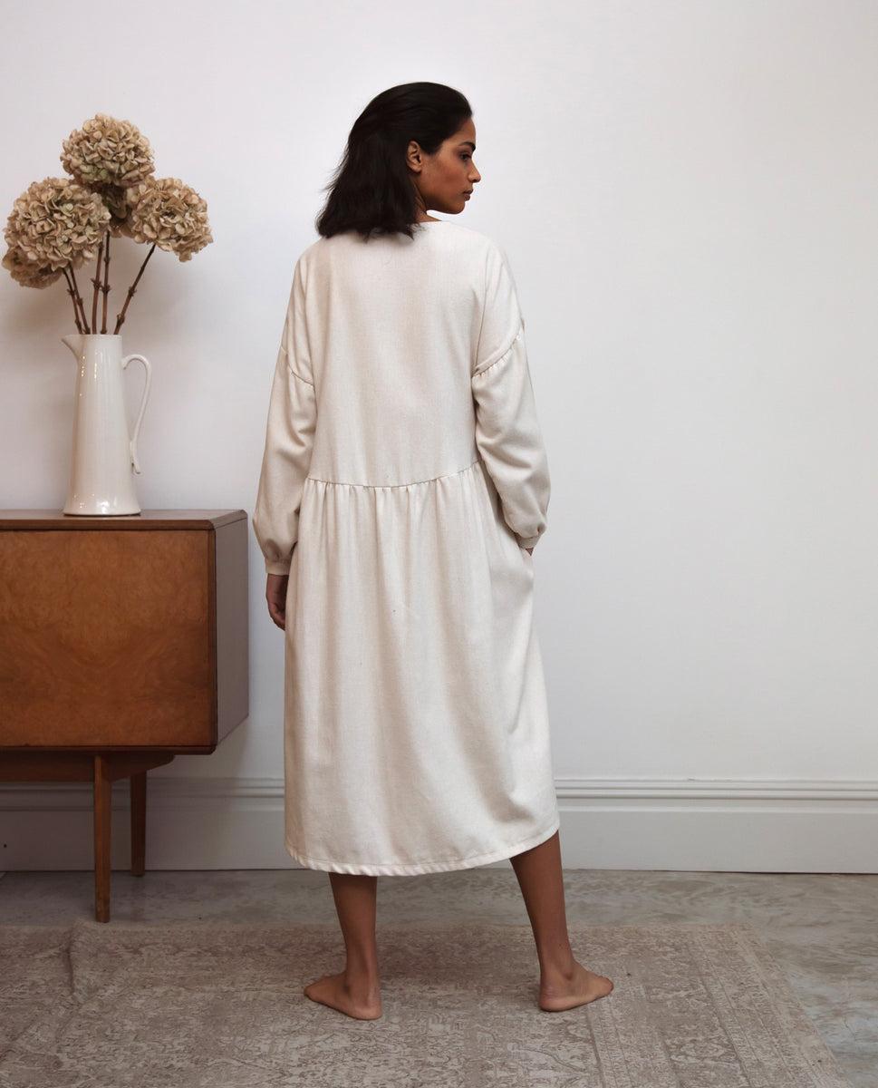 Beaumont Organic Beatrix-Jane Organic Cotton Dress In Beige