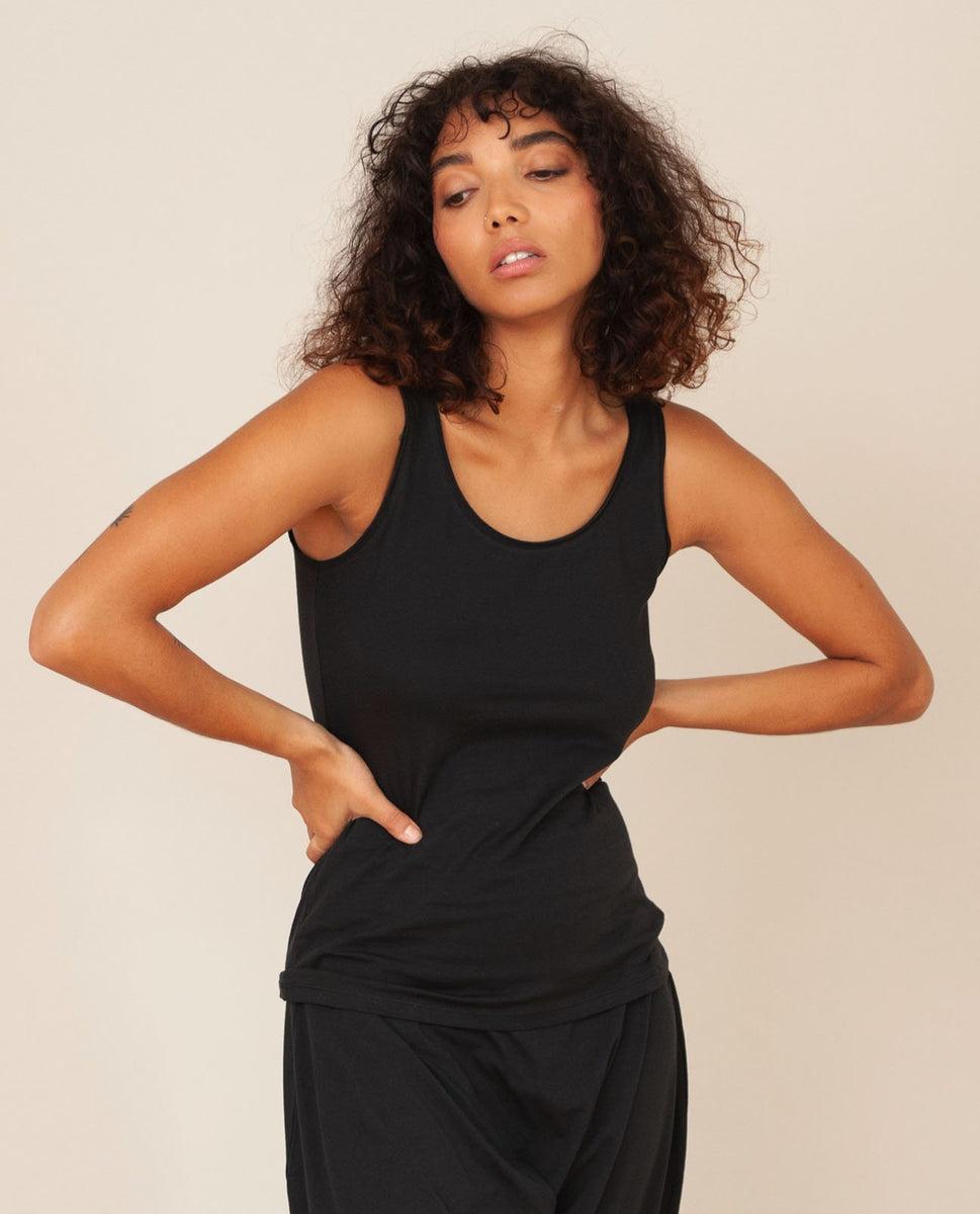 Catori Organic Cotton Yoga Top In Black