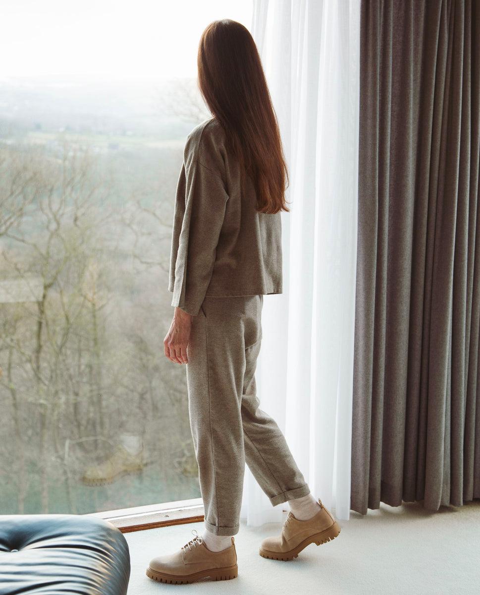 Beaumont Organic Kayley-Jane Organic Cotton Trousers In Moss
