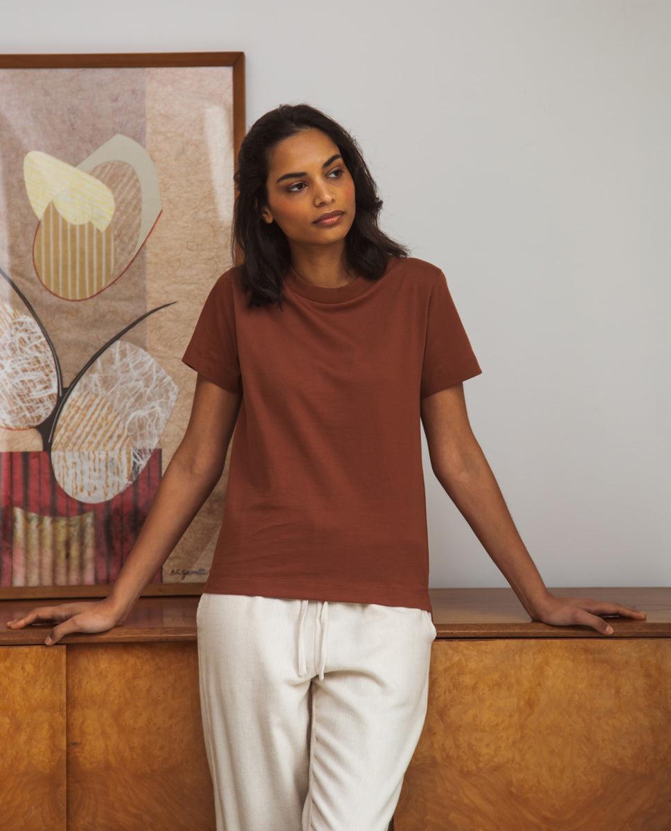 Maliah Organic Cotton T-Shirt In Tortoiseshell