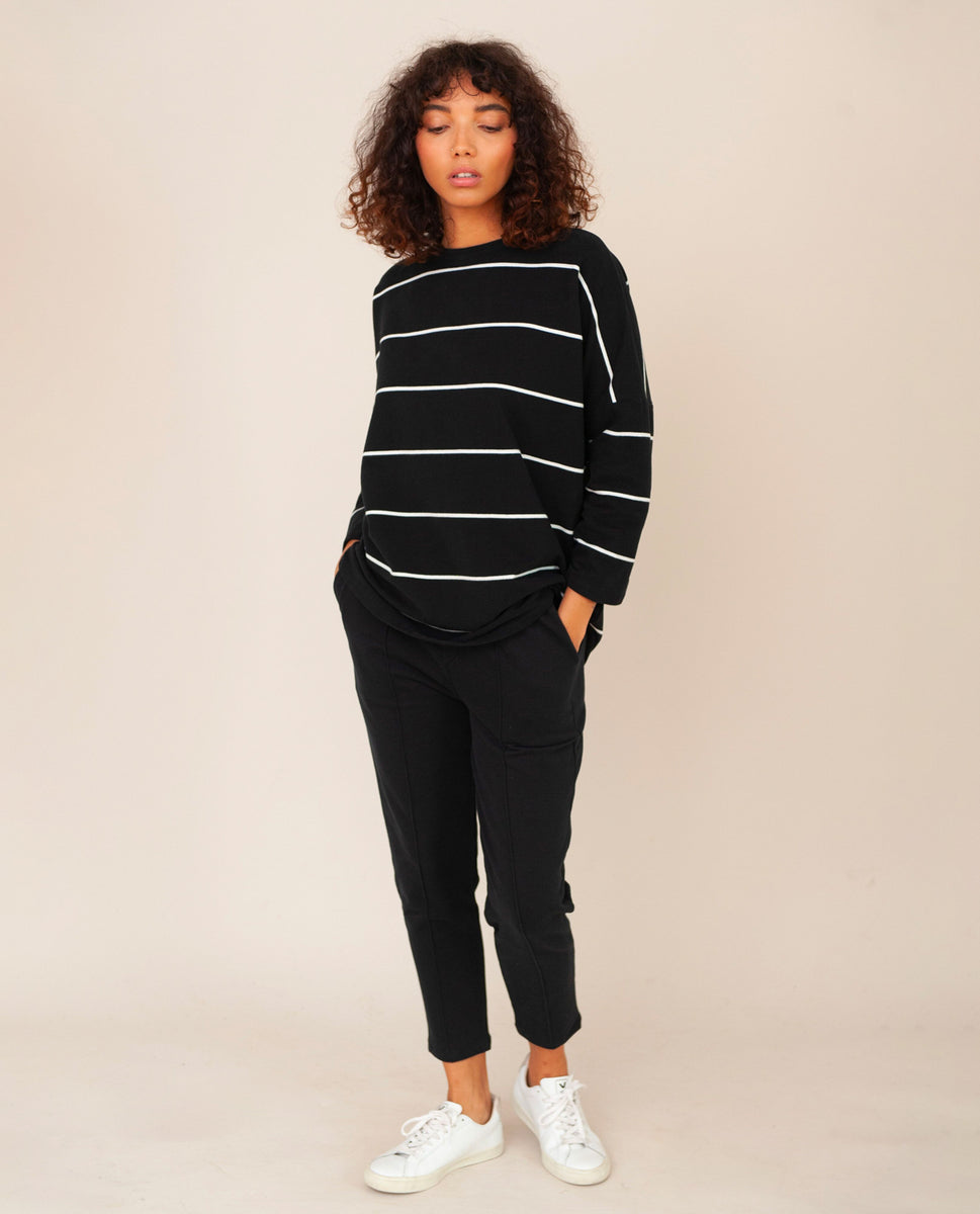 George Organic Cotton Trousers In Black