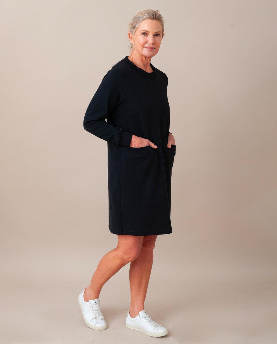 Alexis Organic Cotton Dress In Black