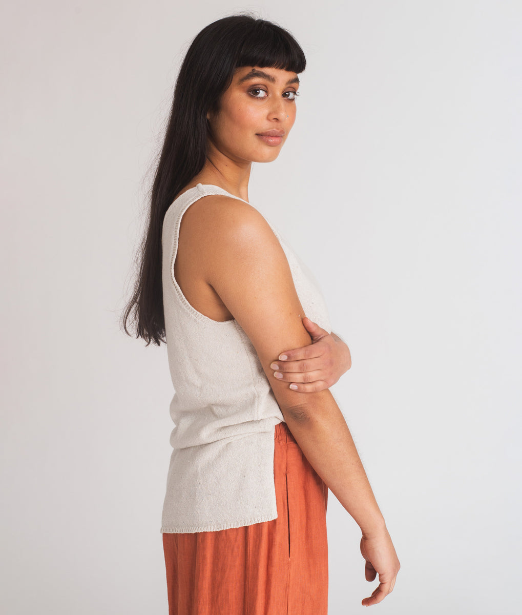 Beaumont Organic Nicole-May Linen Trousers In Clay