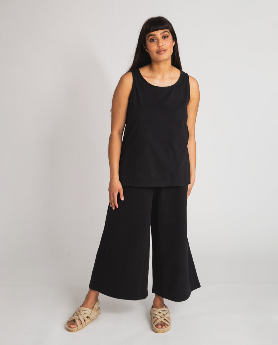 Nicky Organic Cotton Trousers In Black