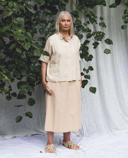 Ashley Organic Cotton Skirt In Sand