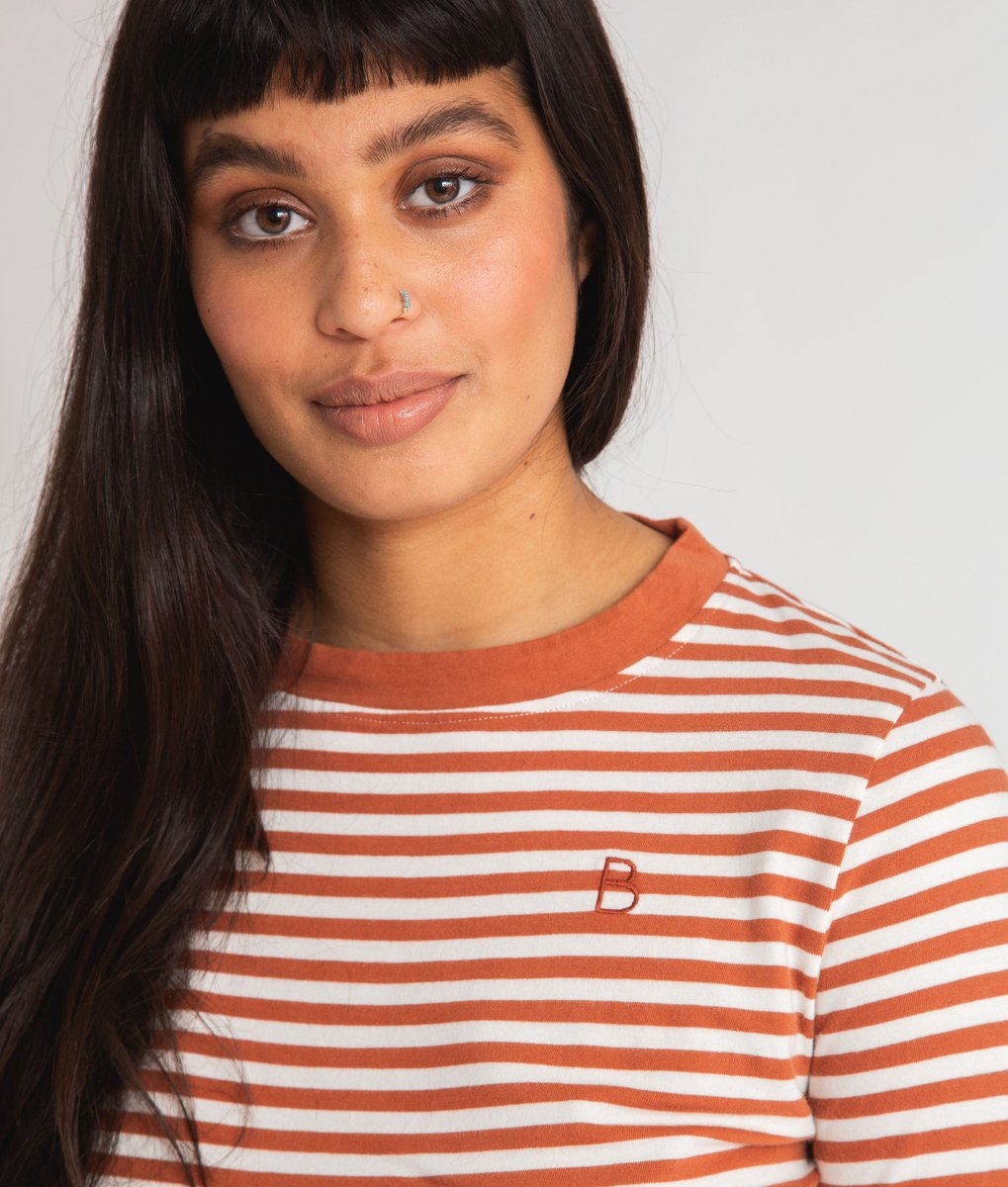 Shoba Organic Cotton Top In Off White & Clay