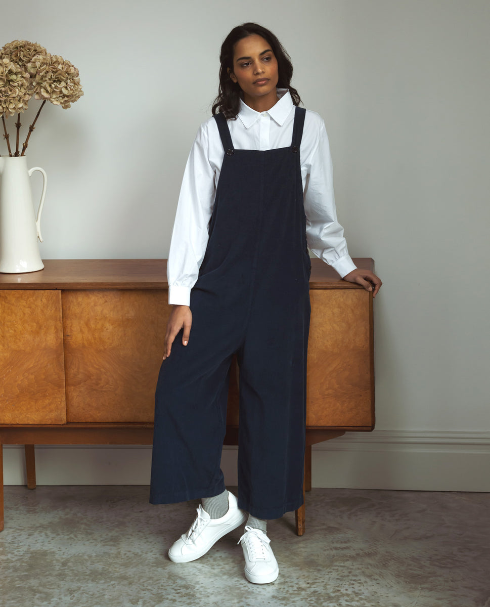 Unity-Ann Cord Jumpsuit In Navy