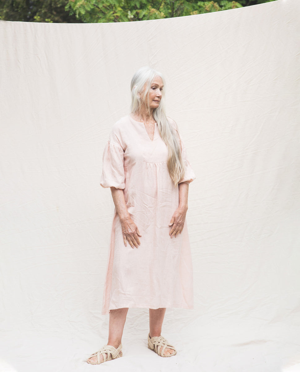 Beaumont Organic Andreia-May Linen Dress In Rose