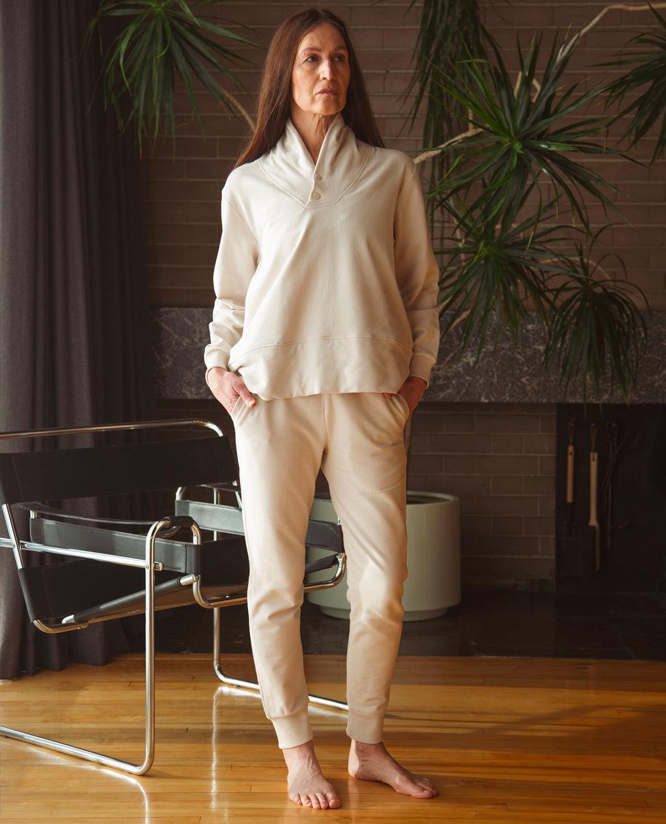Zadie Organic Cotton Trousers In Beige