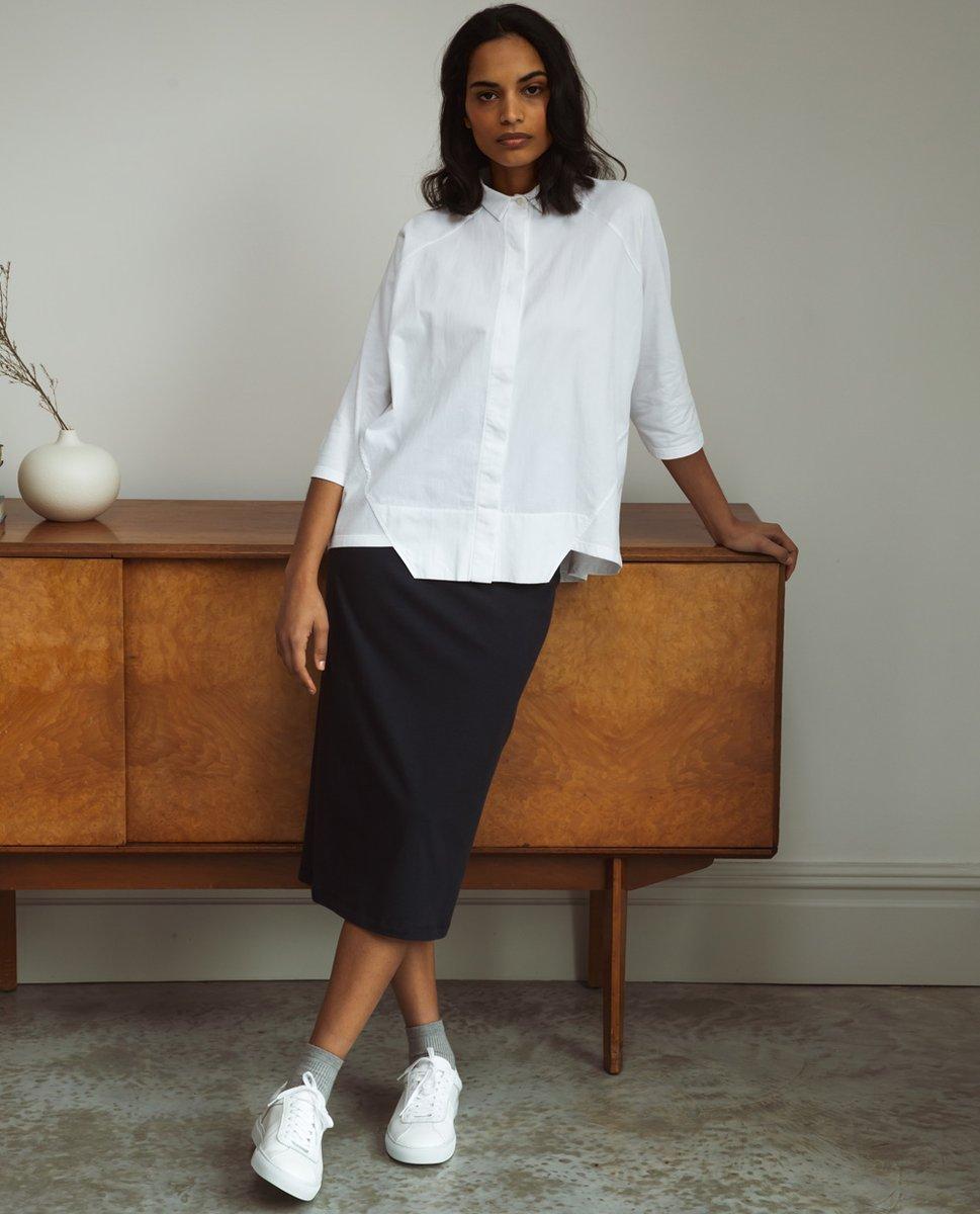 Pam Organic Cotton Skirt In Navy
