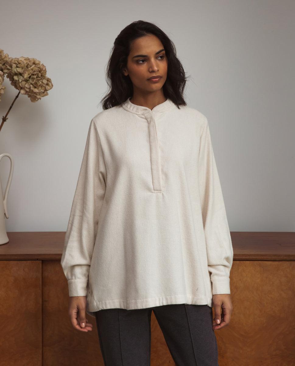 Beckie-Jane Organic Cotton Shirt In Beige