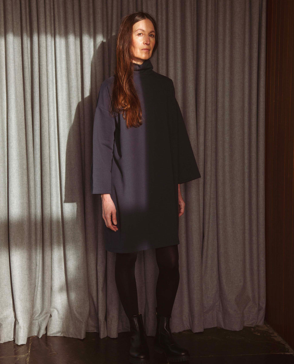 Xena Organic Cotton Dress In Navy