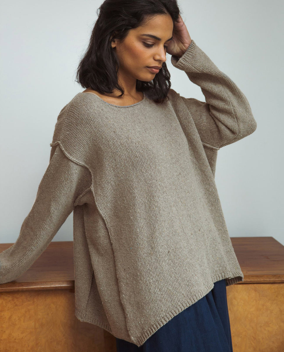 Alessandra Recycled Cotton Jumper In Mocha