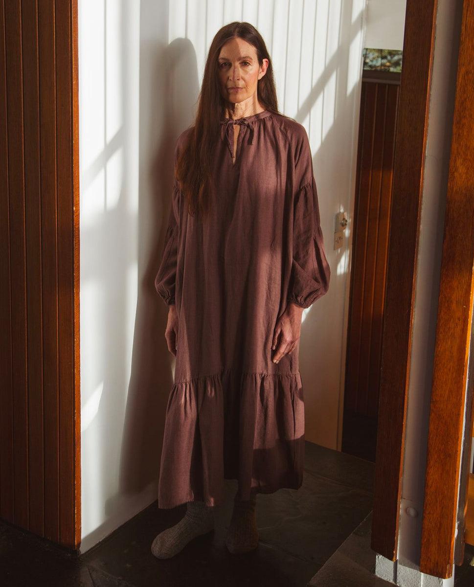 Odessa Linen Dress In Peppercorn