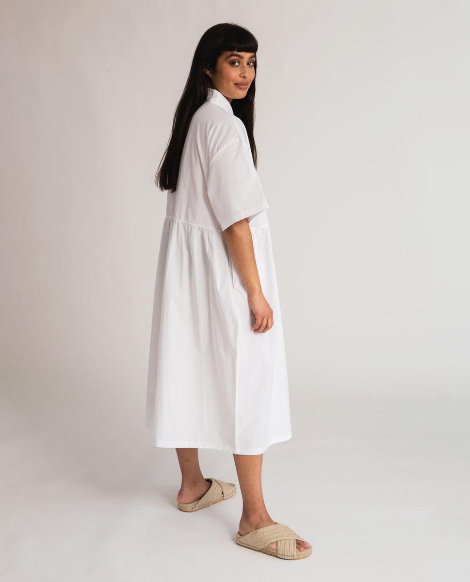 Beaumont Organic Patsy Organic Cotton Dress In White