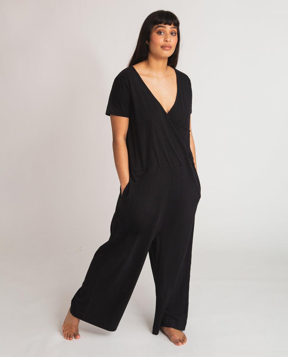 Veronica Organic Cotton Jumpsuit In Black