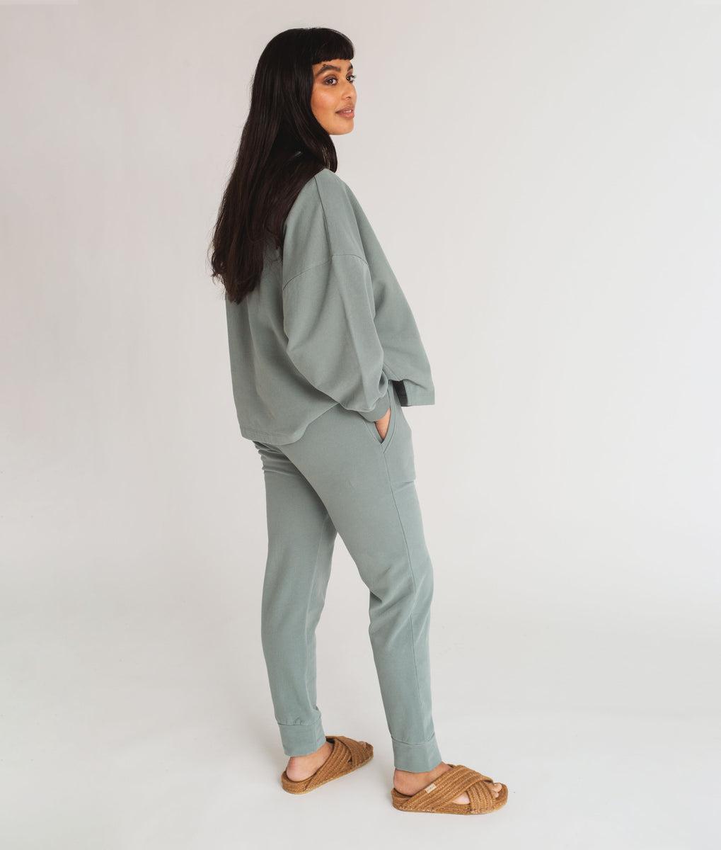 Beaumont Organic Zadie Organic Cotton Trousers In Ocean