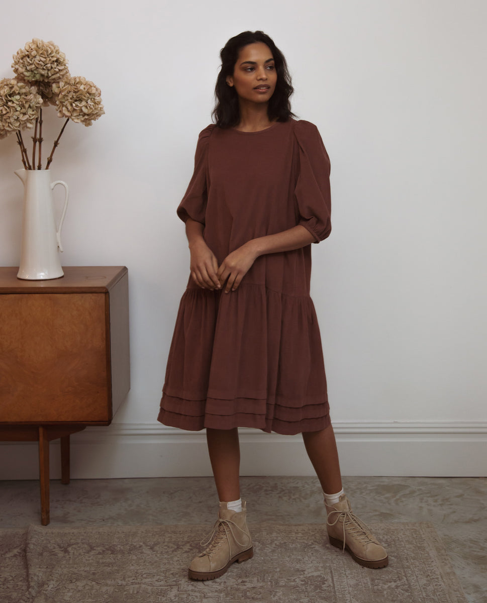 Glynis Cord Dress In Rouge