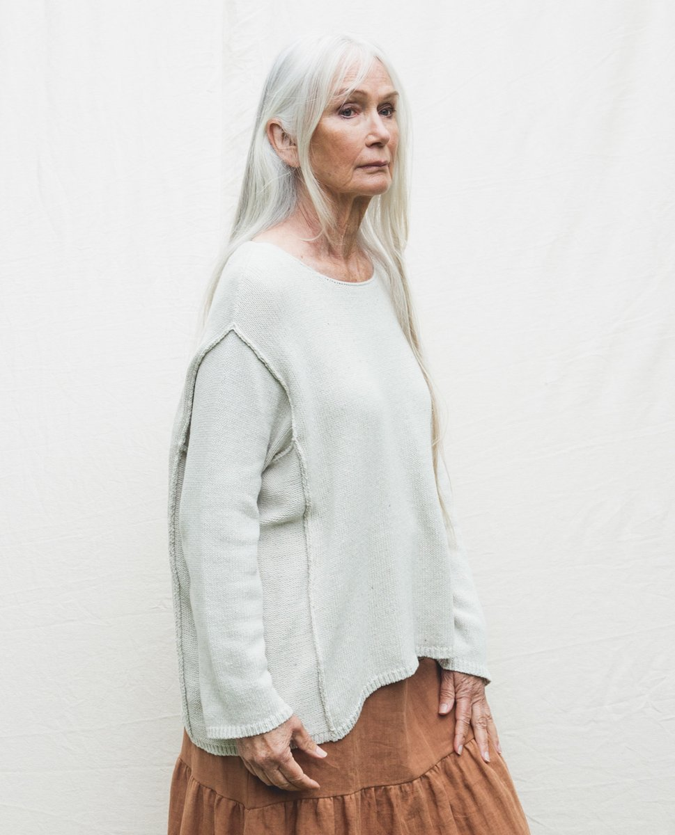 Beaumont Organic Alessandra Recycled Cotton Jumper In Ivory