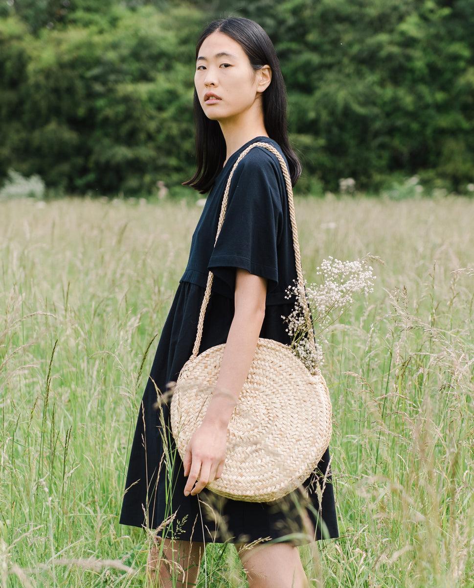 Jaina Organic Cotton Dress In Black