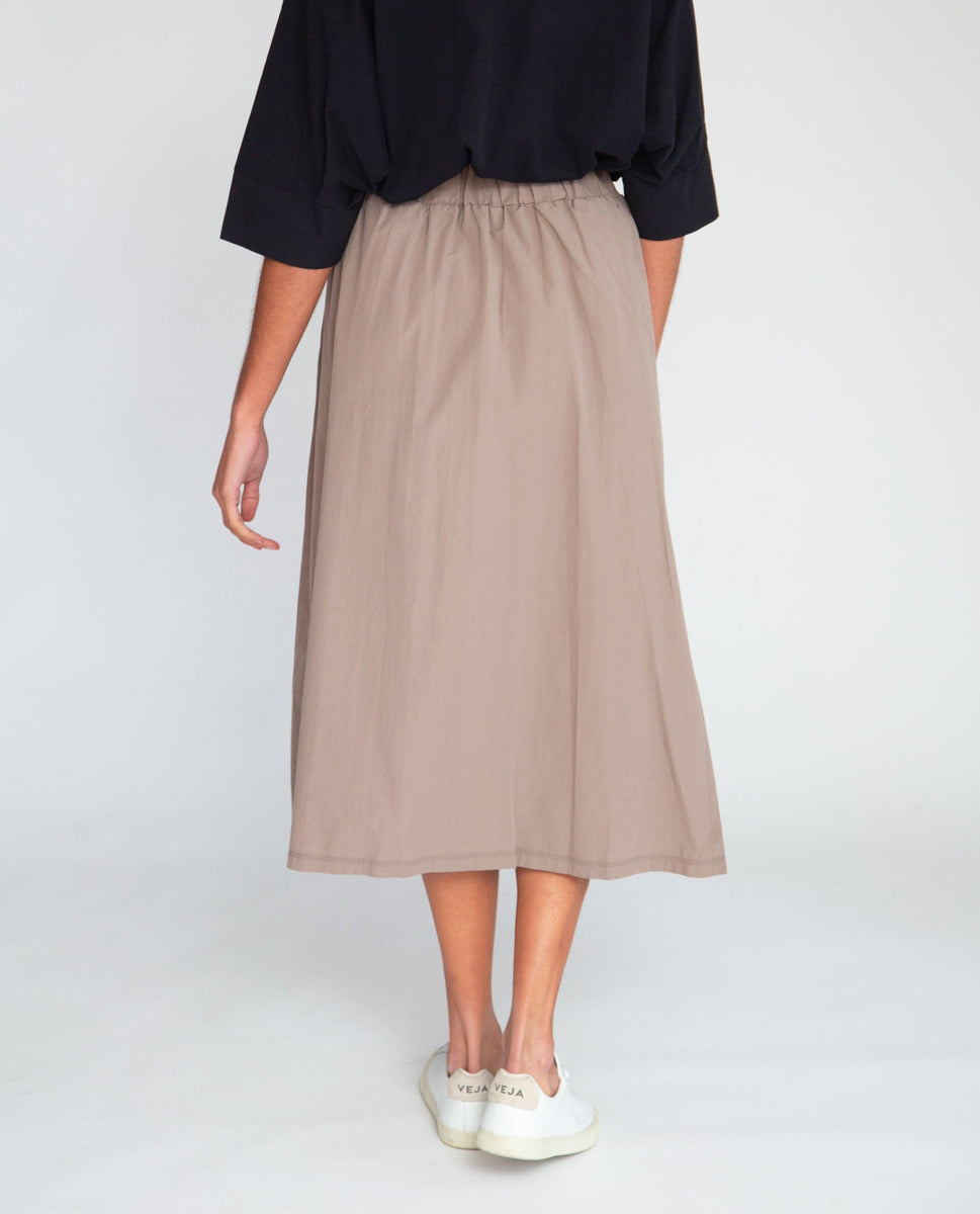 Beaumont Organic Ashley Organic Cotton Skirt In Olive