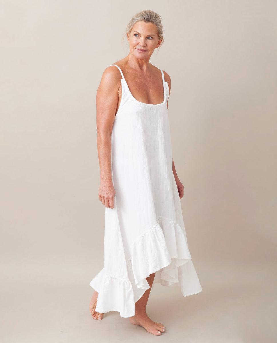 Beaumont Organic Belmira Organic Cotton Dress In Off White