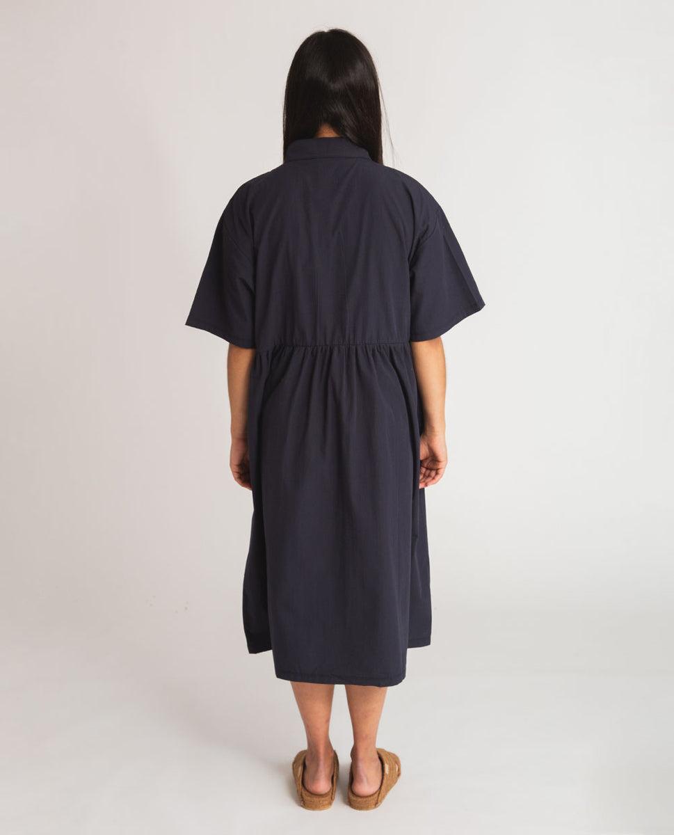 Beaumont Organic Patsy Organic Cotton Dress In Navy