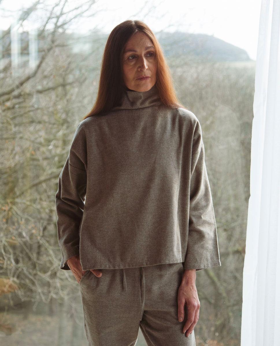 Ula-Jane Organic Cotton Top In Moss