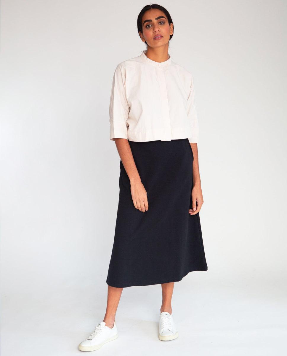 Ronda Organic Cotton Skirt In Black