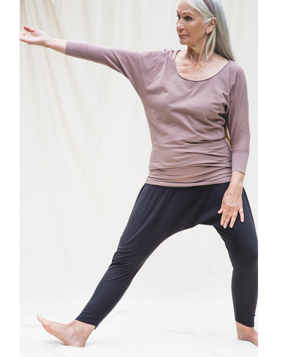 Beaumont Organic Kachina Organic Cotton Yoga Hareem Trousers In Black
