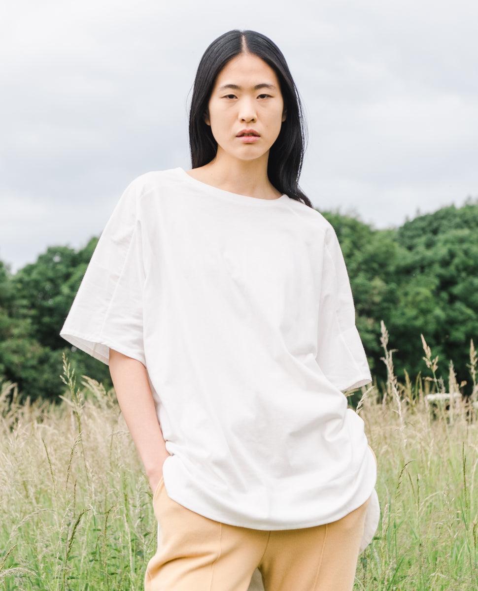 Andrea Organic Cotton Tunic In Off White